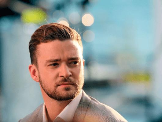 Justin Timberlake de cavanhaque