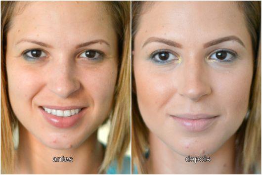 antes e depois do produto