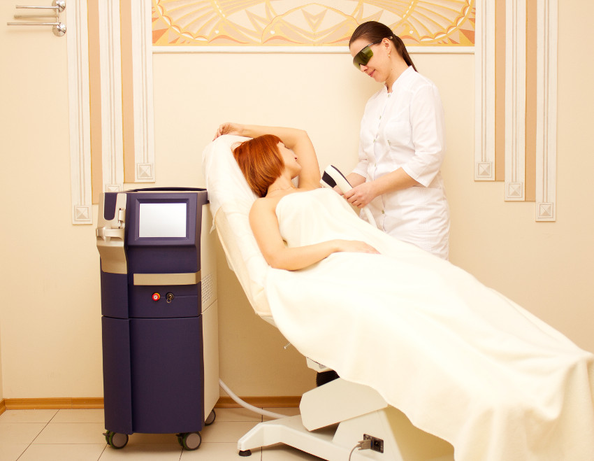 procedimento de depilação