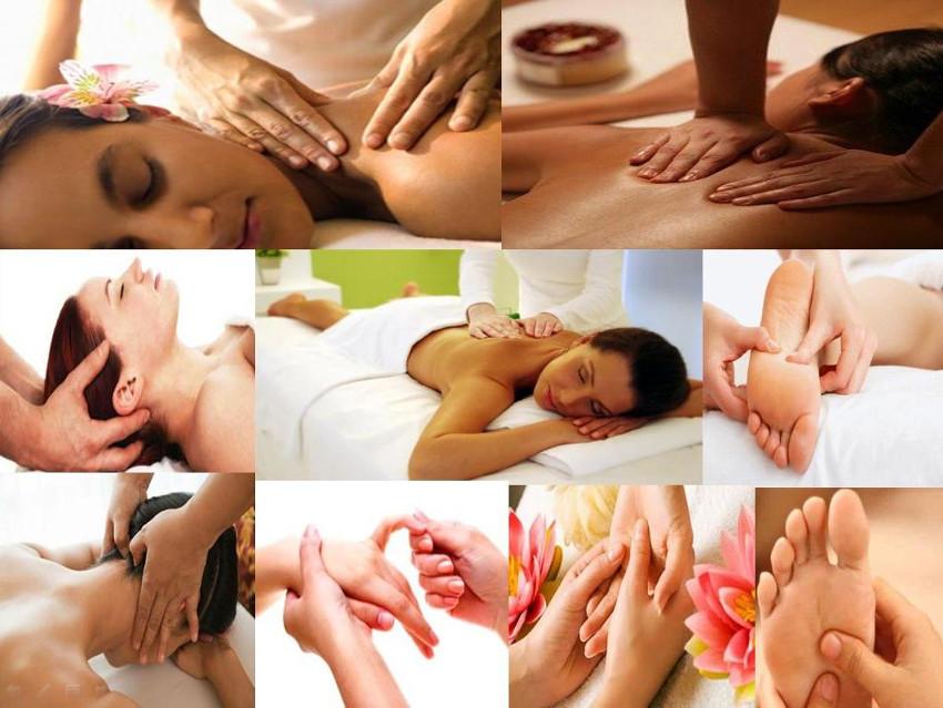 várias pessoas sendo massageadas
