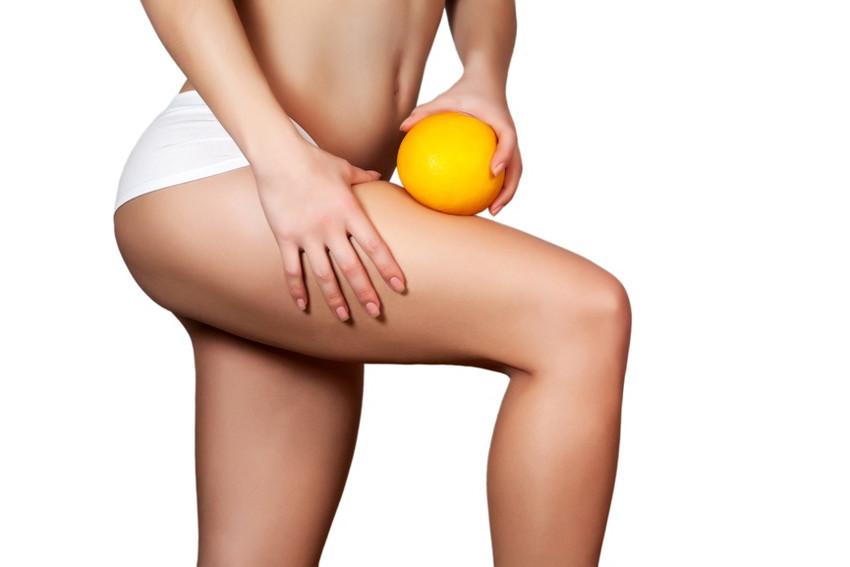mulher casca de laranja