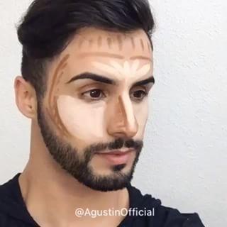 maquiagem pesada para homem com contorno