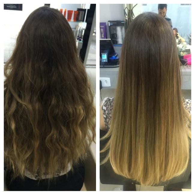 cabelos antes e depois da hidratação