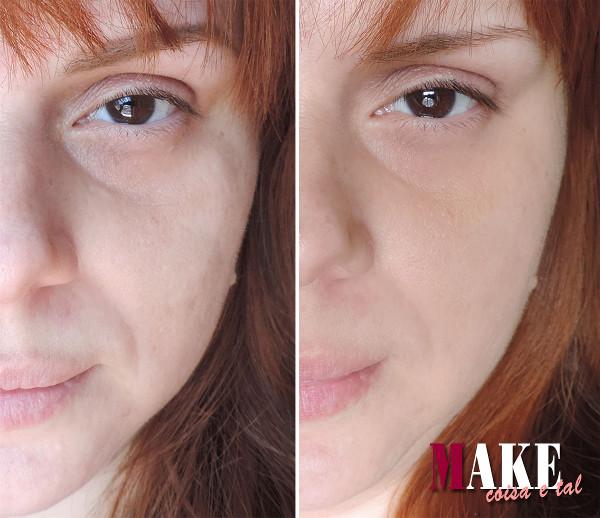 Mulher ruiva com preenchimento de bigode chinês