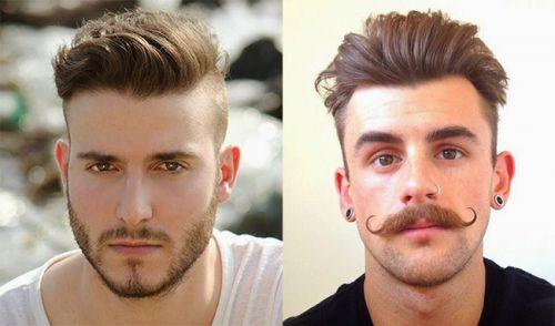 corte de cabelo masculino degradê com topete