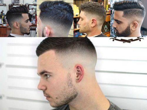 corte masculino com barba degradê