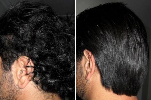 antes e depois da escova progressiva masculina