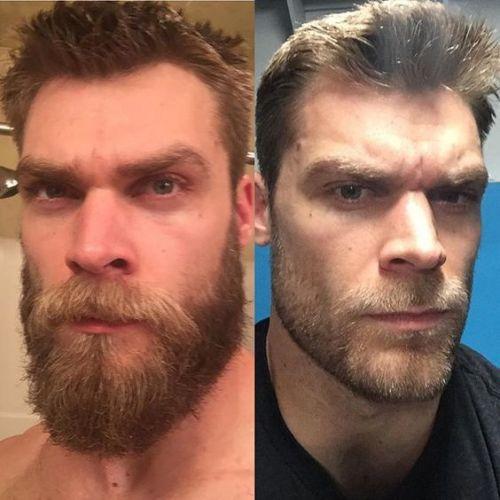 barba por fazer antes e depois