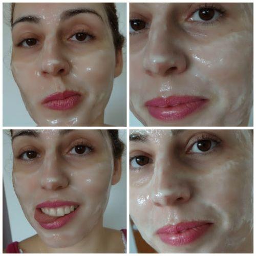 aplicação máscara de gelatina