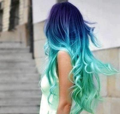 cabelo azul degrade