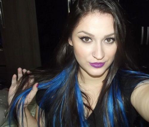 cabelo azul escuro californianas