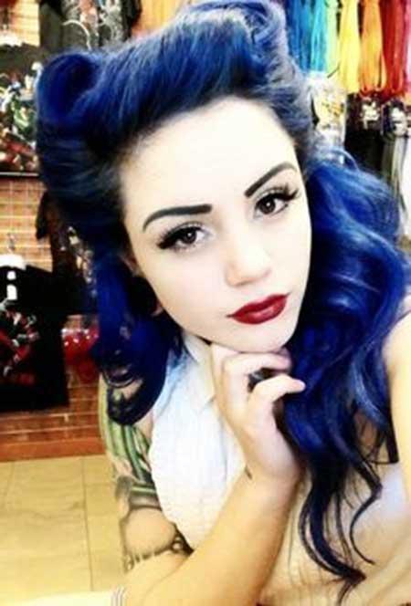 cabelo azul escuro fotos