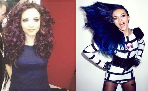cabelo azul marinho antes e depois