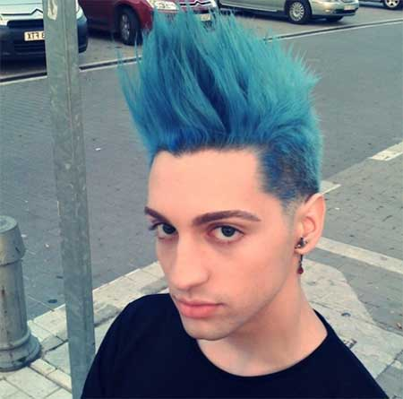 cabelo azul masculino