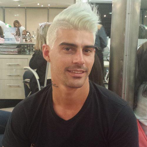 cabelo branco como platinar
