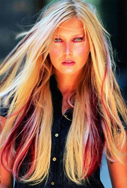 cabelo loiro com mechas