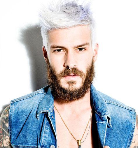 cabelo platinado masculino branco