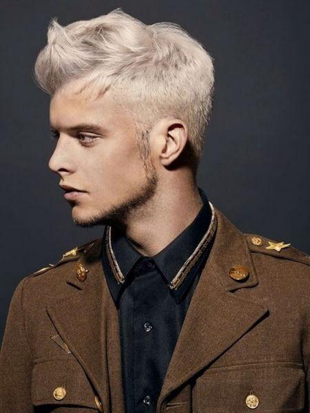 cabelo platinado masculino loiro homem