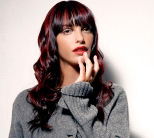 cabelo preto mechas vermelhas passo a passo