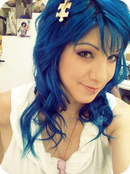 cabelo total azul escuro