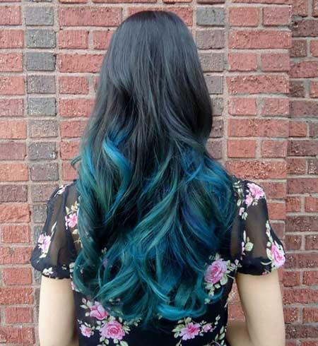 californianas cabelo azul escuro
