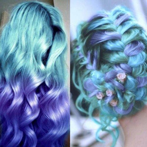 degrade ombre hair cabelo azul