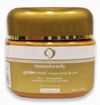 máscara de ouro cosmobeauty