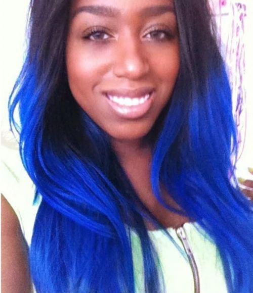 negras cabelo azul escuro