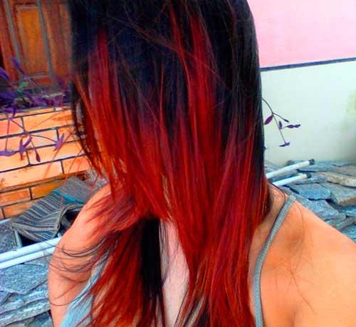 preto com pontas vermelhas