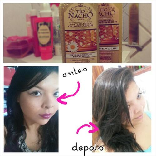 shampoo tio nacho clareador antes e depois