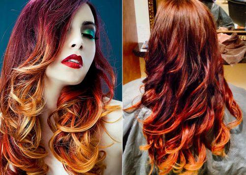 vermelho no cabelo ruivo