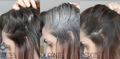 shampoo a seco antes e depois