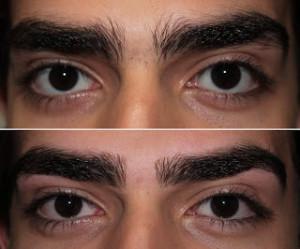 sobrancelha masculina antes e depois