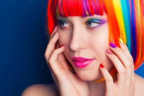cabelo arco-íris/rainbow hair