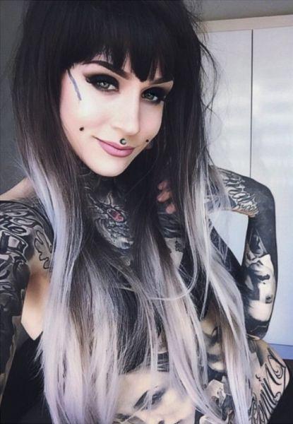 cabelo cinza degrade