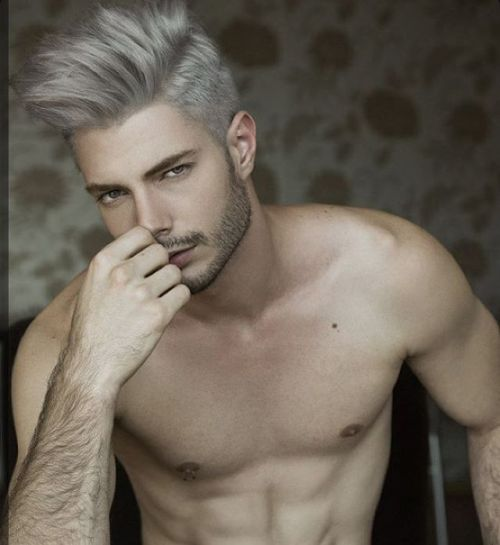 cabelo cinza masculino