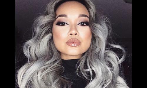 cabelo cinza platinado
