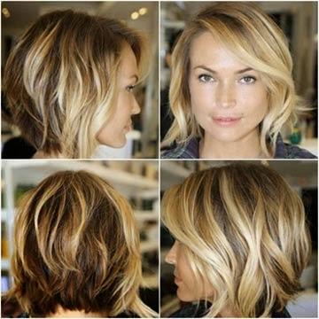 cabelos com luzes curto