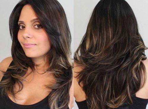 cabelos com luzes finas