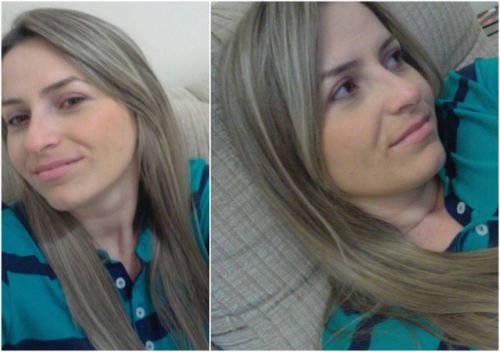 cabelos com luzes inversas