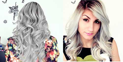 cabelos com luzes platinado