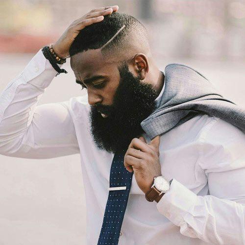 careca degrade com barba