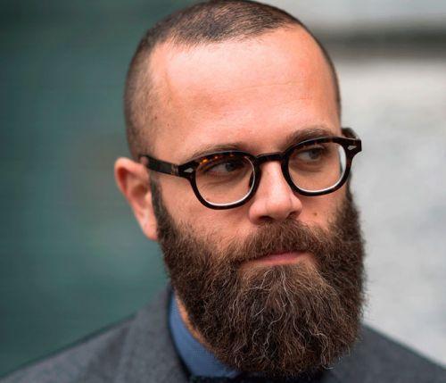 careca nerd com barba