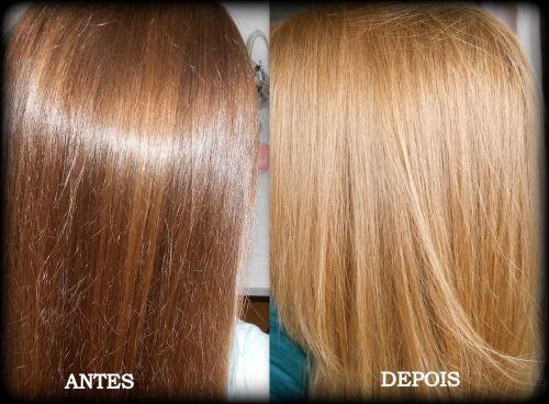 como clarear os cabelos naturalmente antes e depois