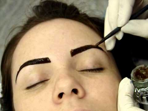 como fazer sobrancelha de henna