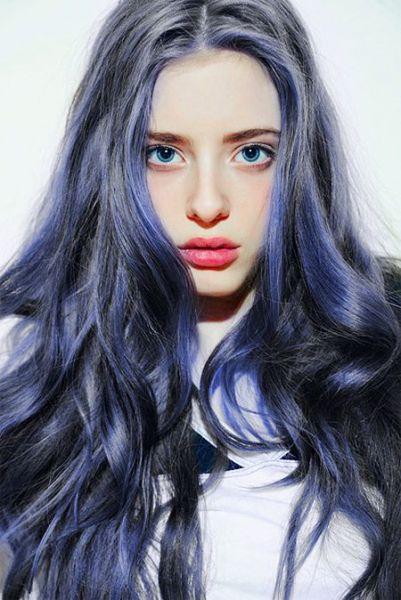 granny hair com azul