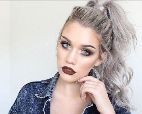 granny hair feminino platinado