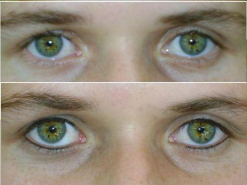 maquiagem definitiva nos olhos antes e depois