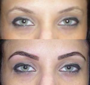 maquiagem definitiva nos olhos doi