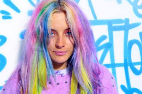 pastel cabelo rainbow